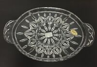"Block Crystal Olympic Divided Relish Dish Serving Tray 13 3/4"" Poland NEW in BOX"