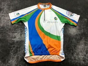 Borah MS150 Assurant Men's 1/4 Zip Cycling Jersey Size XL White Green
