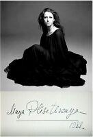 Hand SIGNED Photo AUTOGRAPH Ballet SOVIET Russian MAYA PLISETSKAYA Dancer JEWISH