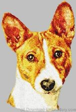Embroidered Short-Sleeved T-shirt - Basenji Dle1474 Sizes S - Xxl