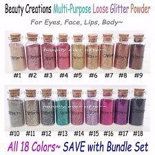 Beauty Creations Multi-Purpose Loose Glitter Powder *All 18 Colors! * Ship Fast