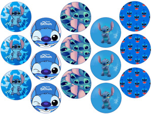 STITCH INSPIRED 15 X 2'' ROUND CUPCAKE TOPPERS EDIBLE ICING / WAFER