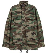 Men's Quality Camo M-65 Lined Parka Jacket M/L Hip Modern Style