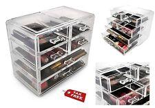 6 Drawer Storage Organizer Wide Plastic Home Cosmetics Cabinet Container Bin Box