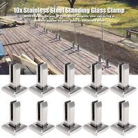 10x Edelstahl Geländerpfosten für Glashalter Glasgeländer Geländerbalkon Pfosten
