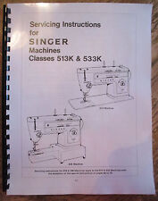 Singer Stylist Machine 513 533 513K 533K Service Repair Manual + Faultfinding