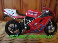 MOTO 1/18 DUCATI  996 SPS SPIDERMAN MARVEL 2001  MAISTO