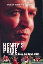 """""""Henry'S Pride"""" Lions Tour 2001 Rugby Book by Coach Graham Henry"""
