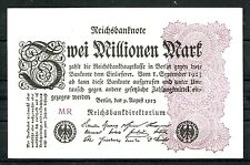 Germany Inflation 2 Millionen Mark 1923 Ro. 103a Hakensterne leicht gebr. used