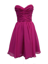 Stunning Strapless Ruched Dress - Ideal for ROA / Prom / Bridesmaid (2 Colours)