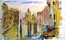 "Curt Wittenbecher 1901-1978 /kapitales Aquarell ""Ponte Accademia (Venedig)"" 1966"