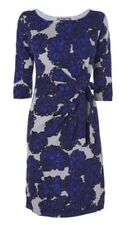 BNWT Phase Eight /8 Printed Megan Dress, Silver/Cobalt Size 16