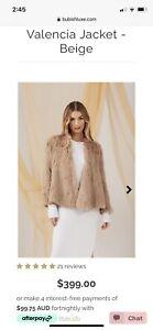 Bubish Valencia Fur Jacket Tan Medium