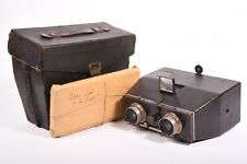 Stereo camera Bellieni with Zeiss Anastigmat  f/8 - 110mm lens, case and glass.