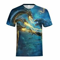 Godzilla King of the Monster Youth T-shirt Summer Boys Short Sleeve Tee Custom