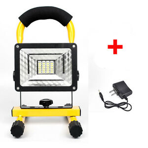 Rechargeable 30W 24LED Flood Light Portable Outdoor Emergency Spotlight +Charger