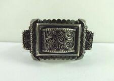 "Vintage Silver Early 1890's Moroccan Designer EMILE KADZIK Bracelet 7"" Hallmark"