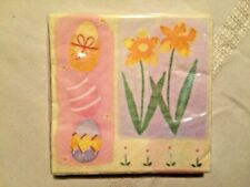 20 New paper napkins Easter egg flowers in package