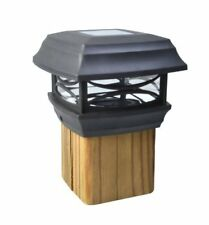 Solar Powered Post Cap Led Light - Designed To Mount On Top of 4X4 Fence Posts