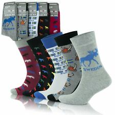 GoWith Men's Cotton Colorful Cozy Patterned Crew Socks | 5 Pairs | Model: 3513