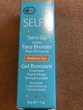 Selfie Tan'n Go Instant Face Bronzer Wash Off Formula, Medium Tan 1oz New Gel