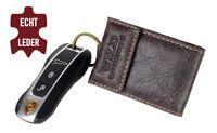 Mini Monedero Cuero Cartera para Llaves Coche Monedas Y Compartimento Billetes