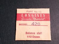 Longines 428 part 13 balance staff, for watch repair/parts