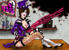 Borderlands 2 Mad Moxxi limited fanart print 11x14