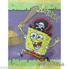 SPONGEBOB PIRATE INVITATIONS (8) ~ Birthday Party Supplies Stationery Cards Note