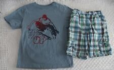 Crazy 8 Boys 5 6 Skate Shirt Plaid Shorts Outfit Rip It Up VGUC