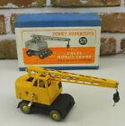 Dinky Supertoys #571 Coles Mobile Crane In Box Meccano England 1949 Gray Wheels