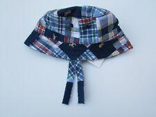 Janie and Jack 6 12 mo NWT Summer Classics Dog Madras Patchwork Bucket Hat LF1