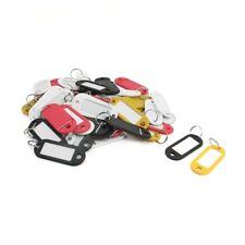 50 Stueck Verschiedene Farbe Kunststoff Schluessel ID Etiketten geteilt Rin I3L1