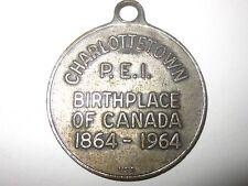 CHARLOTTETOWN PEI BIRTHPLACE OF CANADA 1864-1964 100 YEAR MEDALLION