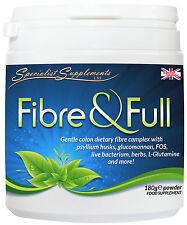 Dietary Fibre & Full Powder Complex 2-PACK 360g Glucomannan Psyllium Probiotics