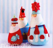PATTERN - Jumbleberry Santas - cute Christmas PATTERN  - May Blossom