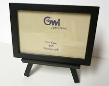 4 x 6 Black Photo frame with easel stand Vertical or Horizontal/glass