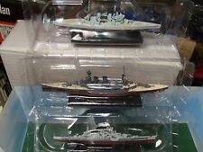 ATLAS WAR SHIPS LOT OF THREE. SCHARNHORST PRINCE OF WALES AND HOOD NEW BOXED