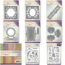 Jeanine's Art Vintage Flowers - Dies & Stamps - Hexagon, Oval, Border****SALE***