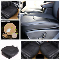 1 Pcs Deluxe Black PU Leather Auto Sedan Front Seat Cover Protector Cushion Mat