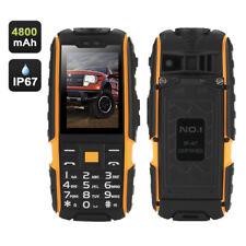 "NO.1 A9 Telefono Cellulare GSM 4800mah 2.4"" Radio FM Dual SIM IP67 Impermeabile"