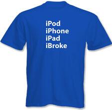 iPod iPhone iPad ibroke - Herren lustige T-Shirt Klein - 5XL
