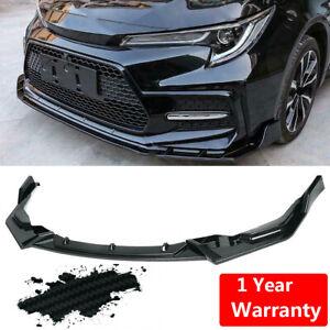 For 2020-2021 Toyota Corolla SE XSE Carbon Fiber Bumper Lip Body Spoiler Tirm