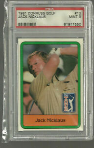 Jack Nicklaus 1981 Donruss #13 PSA 9 Rookie RC Graded Mint Nice