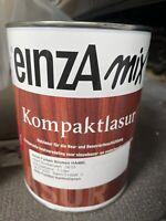 1 Liter Einza Mix Aqua Kompaktlasur Farbton siehe    Deckel  Restposten