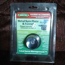 Moultrie Metal Spin Plate & Funnel Hunting Game Feeder Mfh-Aspf