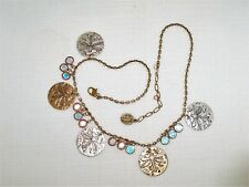 Anne Koplik Dragonfly Disc Ab Swarovski Crystal Necklace