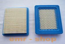 2 Stück Luftfilter für Briggs & Stratton Motoren Quantum 491588, Rasenmäher Sabo