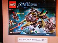 New Lego Instruction Manual ONLY for Ultra Agents Hurricane Heist Set 70164