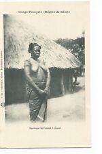 CONGO FRANCAIS REGION DE SEMIO , TATOUAGES DE FEMME A ZANDE , FEMME NUE , NUDE